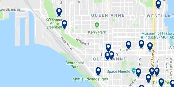 Alojamiento en Queen Anne - Haz clic para ver todo el alojamiento disponible en esta zona