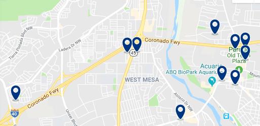 Alojamiento en West Albuquerque – Haz clic para ver todo el alojamiento disponible en esta zona