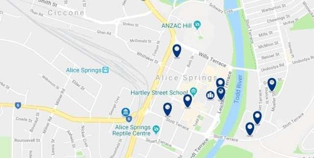 Alojamiento en Alice Springs City Centre - Haz clic para ver todo el alojamiento disponible en esta zona
