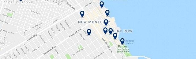 Alojamiento en Cannery Row - Haz clic para ver todo el alojamiento disponible en esta zona