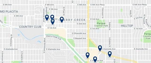Alojamiento en Cherry Creek - Haz clic para ver todo el alojamiento disponible en esta zona