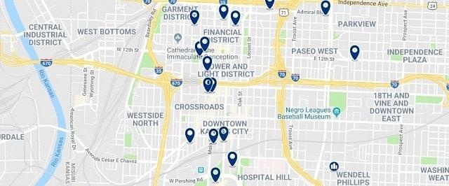 Alojamiento en Downtown Kansas City - Haz clic para ver todo el alojamiento disponible en esta zona