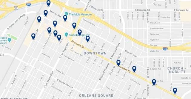 Alojamiento en Downtown Las Vegas - Haz clic para ver todo el alojamiento disponible en esta zona