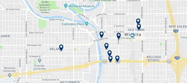 Alojamiento en Downtown Wichita - Haz clic para ver todo el alojamiento disponible en esta zona