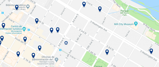 Alojamiento en Mill District - Clica sobre el mapa para ver todo el alojamiento en esta zona