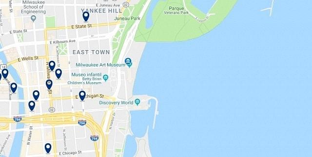 Alojamiento en Milwaukee East Town - Haz clic para ver todo el alojamiento disponible en esta zona