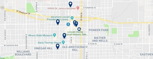 Accommodation in Springfield Historic District - Click on the map to see all available accommodation in this area