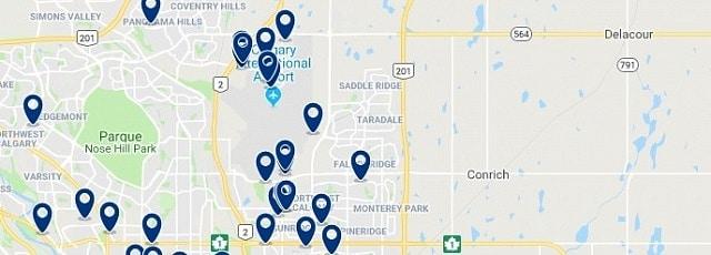 Alojamiento en Northeast Calgary - Haz clic para ver todo el alojamiento disponible en esta zona