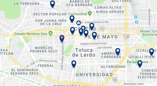 Alojamiento en Toluca Centro - Haz clic para ver todo el alojamiento disponible en esta zona