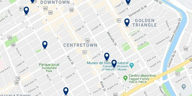 Alojamiento en Ottawa Centretown - Haz clic para ver todo el alojamiento disponible en esta zona