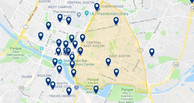 Alojamiento en East Austin - Haz clic para ver todo el alojamiento disponible en esta zona