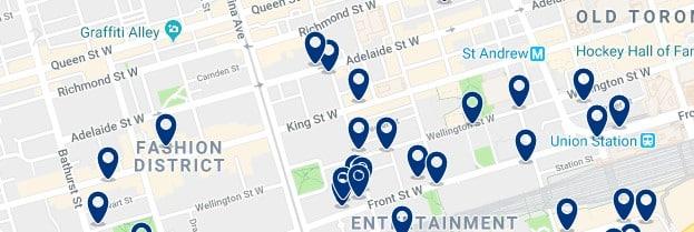 Alojamiento en Fashion District - Clica sobre el mapa para ver todo el alojamiento en esta zona