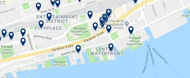 Alojamiento en Harbourfront - Clica sobre el mapa para ver todo el alojamiento en esta zona