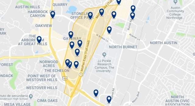 Alojamiento en Northwest Austin - Haz clic para ver todo el alojamiento disponible en esta zona