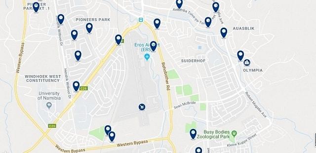 Alojamiento en South Windhoek - Haz clic para ver todo el alojamiento disponible en esta zona
