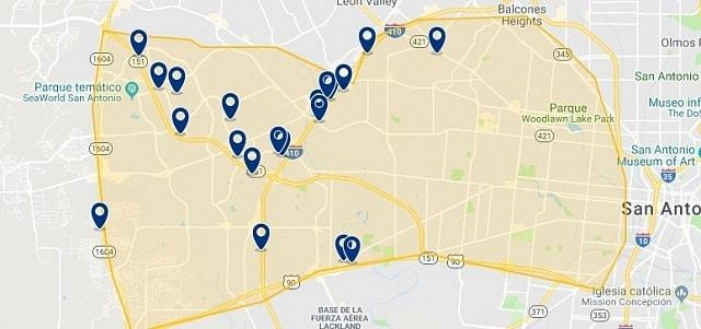 Alojamiento en West San Antonio - Haz clic para ver todo el alojamiento disponible en esta zona