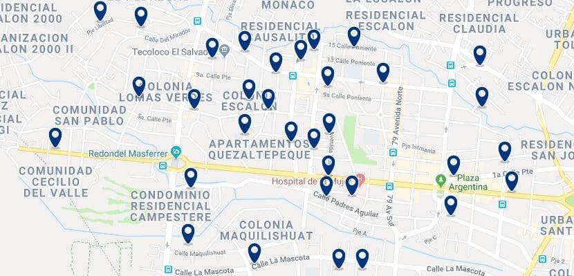 Alojamiento en San Salvador Oeste - Haz clic para ver todos el alojamiento disponible en esta zona