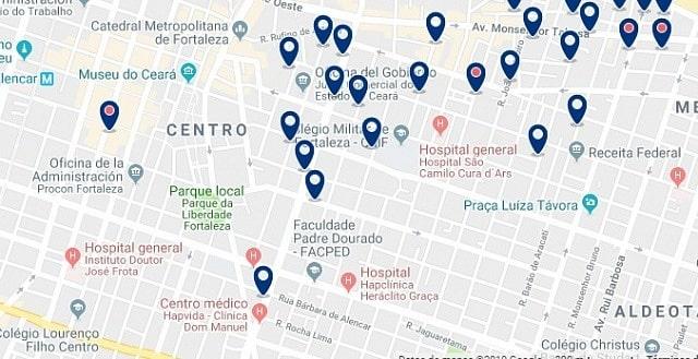 Alojamiento en el Centro Histórico de Fortaleza - Haz clic para ver todo el alojamiento disponible en esta zona