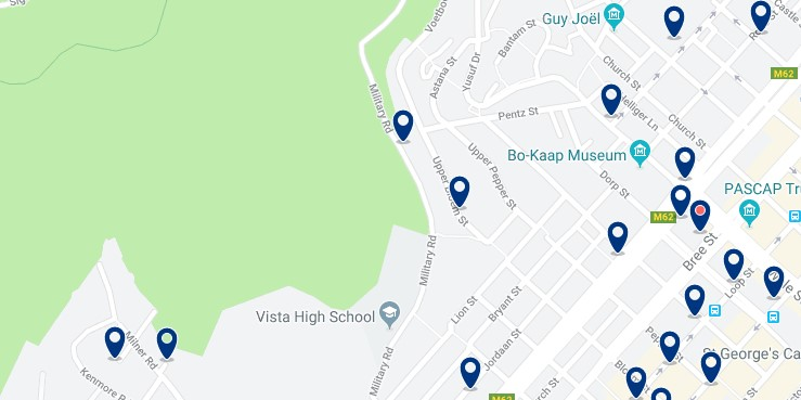 Accommodation in Bo'Kaap - Click to see all available accommodation in this area
