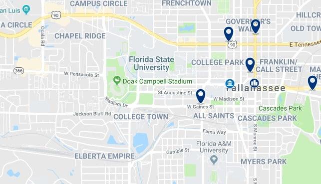 Alojamiento en College Town - Haz clic para ver todos el alojamiento disponible en esta zona