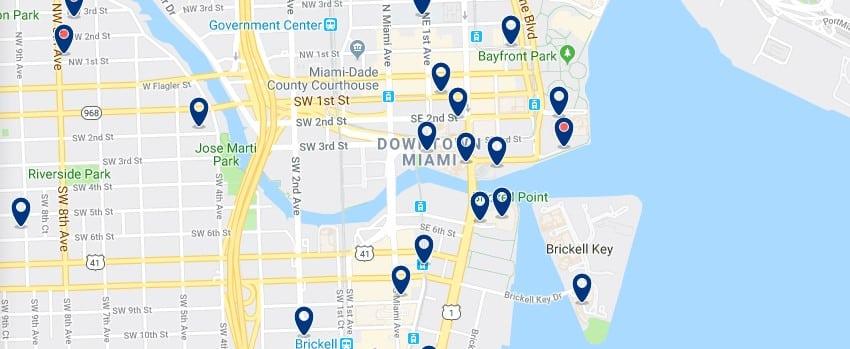 Alojamiento en Downtown Miami - Haz clic para ver todos el alojamiento disponible en esta zona