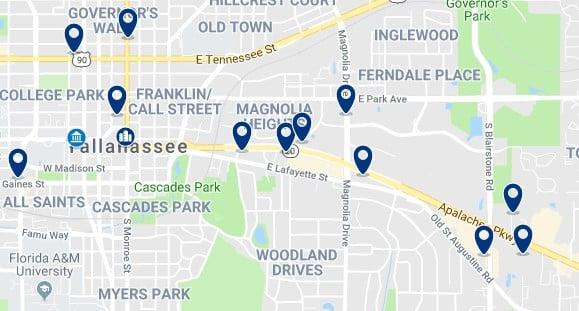 Alojamiento en Downtown Tallahassee - Haz clic para ver todos el alojamiento disponible en esta zona