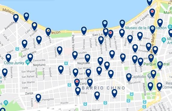 Alojamiento en La Habana Centro - Haz clic para ver todos el alojamiento disponible en esta zona