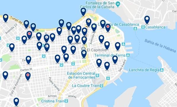 Alojamiento en La Habana Vieja - Haz clic para ver todos el alojamiento disponible en esta zona