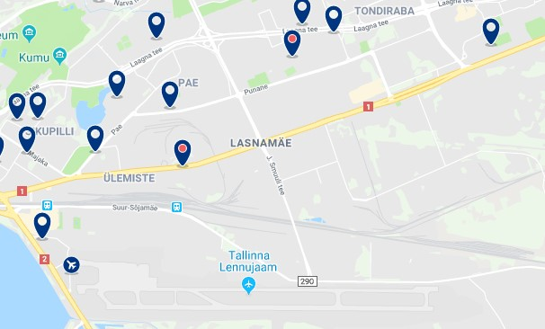 Alojamiento en Lasnamäe - Haz clic para ver todos el alojamiento disponible en esta zona