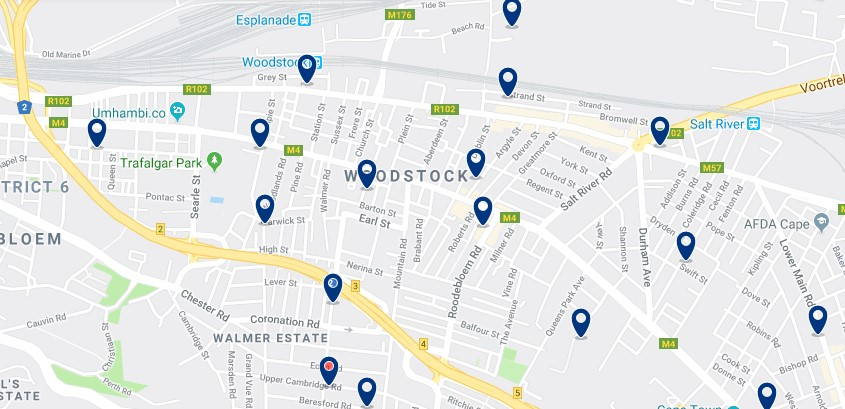 Accommodation in Woodstock - Click to see all available accommodation in this area