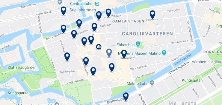 Alojamiento en el Centro Histórico de Malmö - Haz clic para ver todos el alojamiento disponible en esta zona