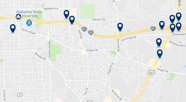 Alojamiento cerca de la estación de trenes de la Alabama State University - Haz clic para ver todos el alojamiento disponible en esta zona