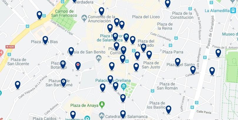 Alojamiento en el Centro Histórico de Salamanca - Haz clic para ver todos el alojamiento disponible en esta zona