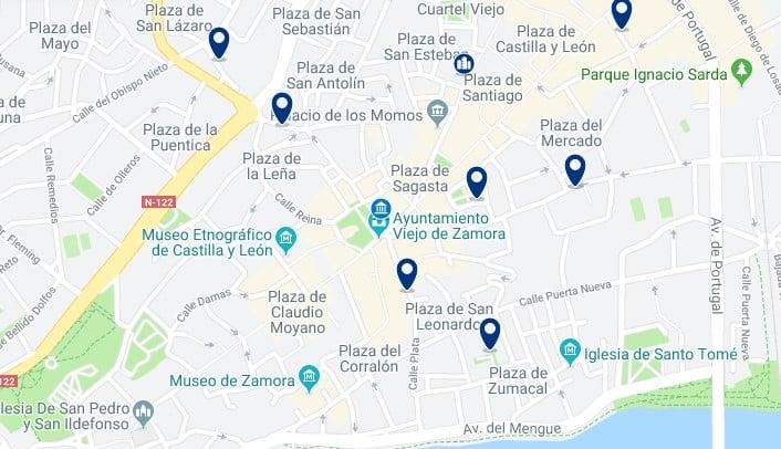 Alojamiento en el Centro Histórico de Zamora - Haz clic para ver todos el alojamiento disponible en esta zona