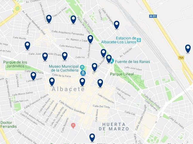 Alojamiento en el Centro de Albacete - Haz clic para ver todos el alojamiento disponible en esta zona