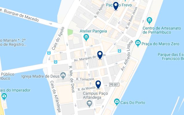 Alojamiento en el Centro de Recife – Haz clic para ver todo el alojamiento disponible en esta zona
