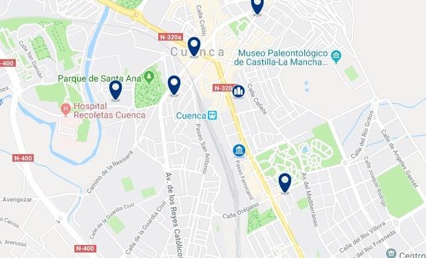 Alojamiento cerca de la estación de trenes de Cuenca - Haz clic para ver todos el alojamiento disponible en esta zona