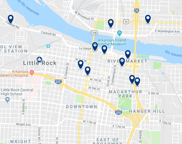 Alojamiento en Downtown Little Rock - Haz clic para ver todos el alojamiento disponible en esta zona