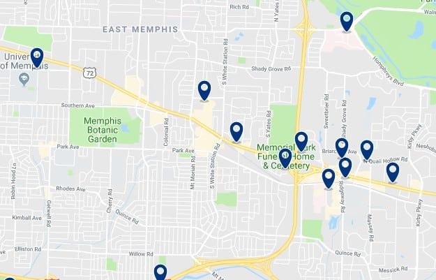 Alojamiento en East Memphis - Haz clic para ver todos el alojamiento disponible en esta zona