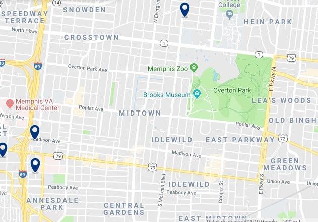 Alojamiento en Midtown Memphis - Haz clic para ver todos el alojamiento disponible en esta zona