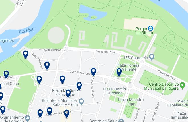 Alojamiento en el Palacio de Congresos Riojaforum – Haz clic para ver todo el alojamiento disponible en esta zona