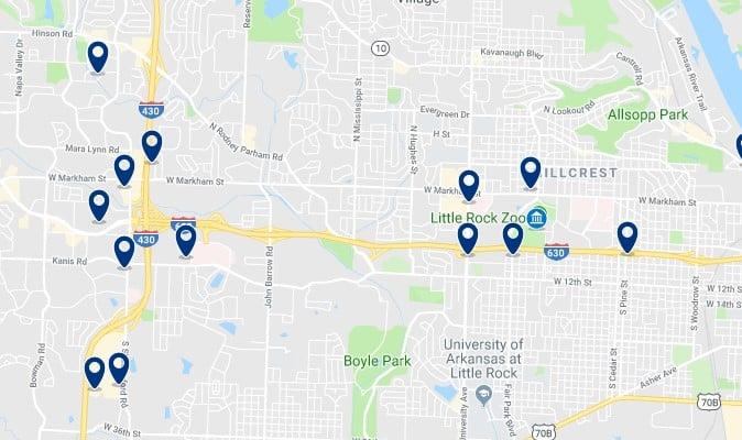 Alojamiento en el oeste de Little Rock - Haz clic para ver todos el alojamiento disponible en esta zona