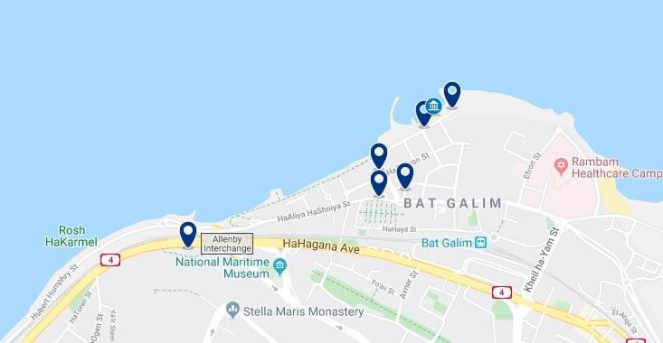 Alojamiento en Bat Galim - Haz clic para ver todos el alojamiento disponible en esta zona