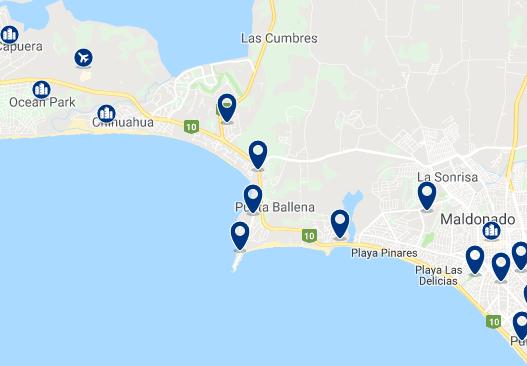 Alojamiento en Punta Ballena – Haz clic para ver todo el alojamiento disponible en esta zona