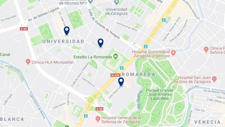 Alojamiento en Romareda - Haz clic para ver todos el alojamiento disponible en esta zona