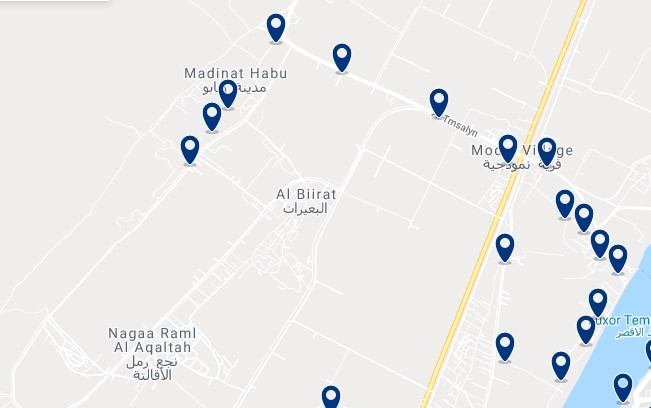 Alojamiento en la orilla occidental del río Nilo - Haz clic para ver todos el alojamiento disponible en esta zona