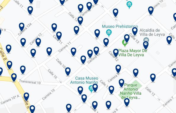 Alojamiento en el Centro de Villa de Leyva - Haz clic para ver todo el alojamiento en esta zona