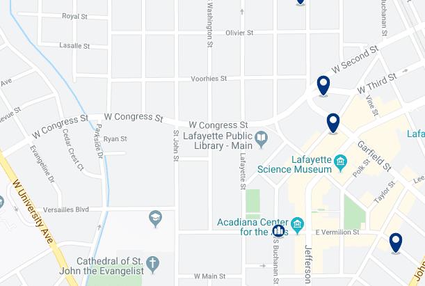 Alojamiento al nordeste de Lafayette - Haz clic para ver todo el alojamiento disponible en esta zona