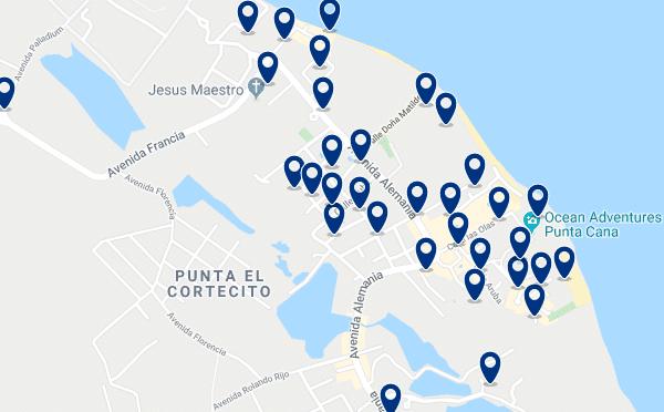 Alojamiento en la Playa El Cortecito - Haz clic para ver todo el alojamiento disponible en esta zona