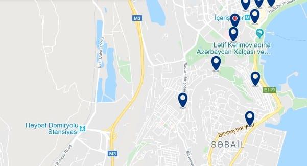 Alojamiento en Sabayil - Clica sobre el mapa para ver todo el alojamiento en esta zona